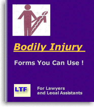 Plaintiff's Bodily Injury Deposition or Testimony Checklist